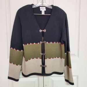 Christopher and banks tricolor sweater